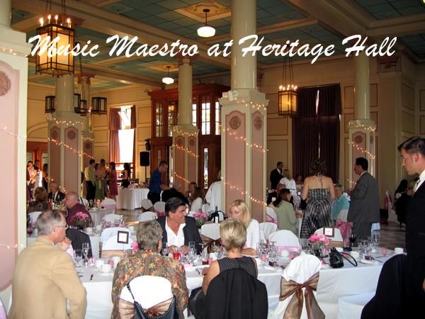 heritagehallvancouverweddingreception music maestro blog